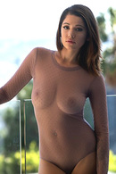 Ali Rose Strips Her Transparent Bodysuit